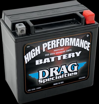 Drag Specialties High Performance Battery for Harley 2004 & Newer Sportster Models