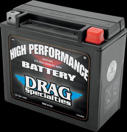 Drag Specialties High Performance Battery for Harleys and Buells