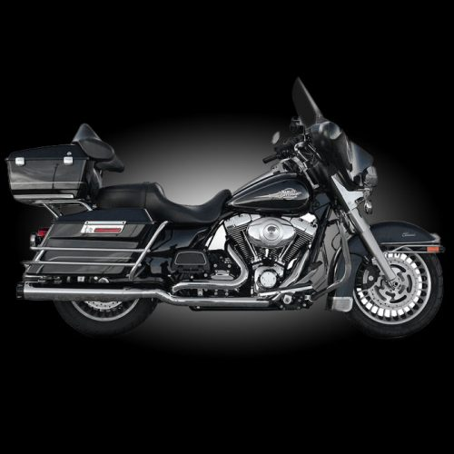 Bassani True Dual Head pipes Chrome