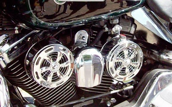 SD-320 Love Jugs Slots Chrome Engine Cooling System for Harley Motorcycles