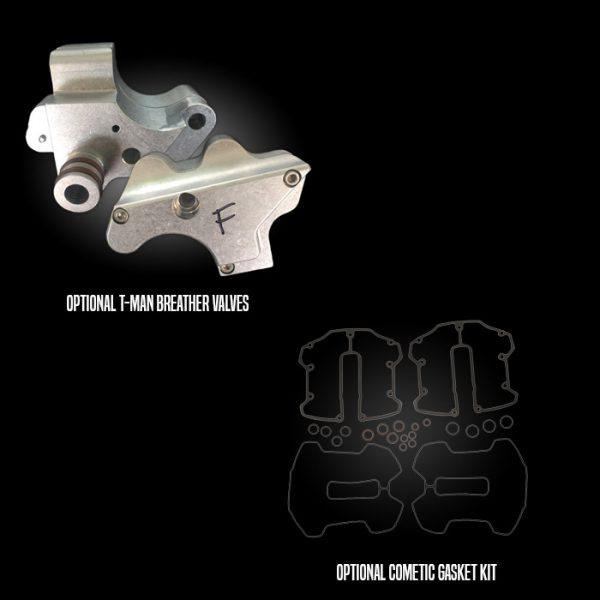 Optional T-Man Breather Valves & Cometic Gasket Kit