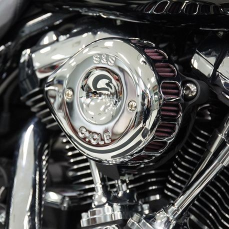 S&S Cycle Stealth Air Cleaner with Chrome Mini Teardrop Cover