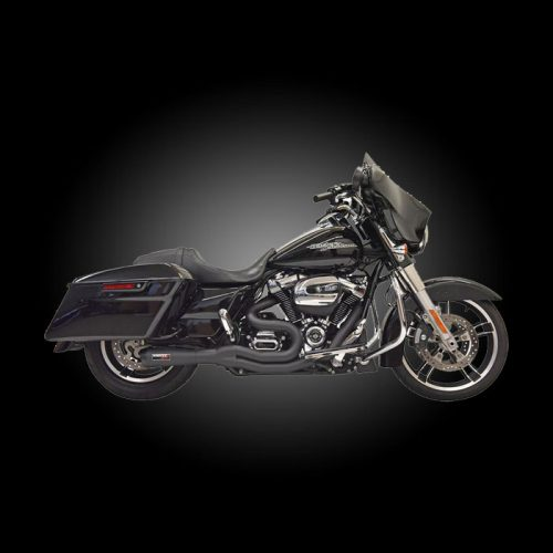Bassani 1F72B Mid-Length Road Rage 2-Into-1 Exhaust for 2017-Newer Touring Models